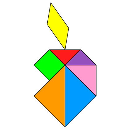 Tangram Bitten apple