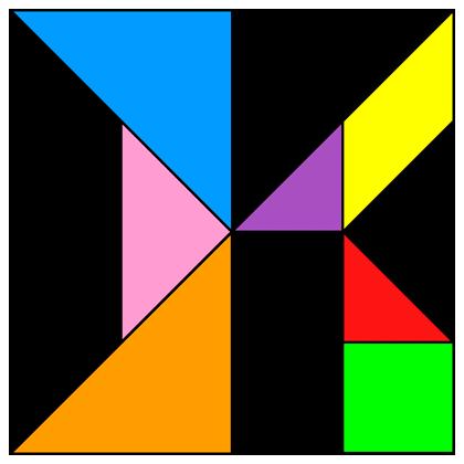 Tangram Letter K