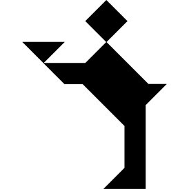 Tangram puzzle 72 : Waiter - Visit http://www.tangram-channel.com/ to see the solution to this Tangram