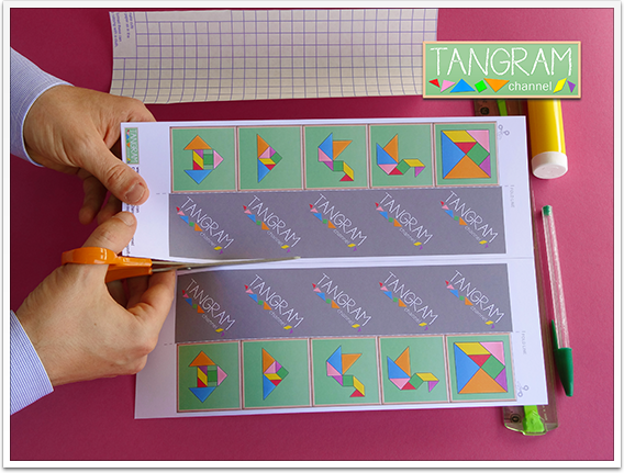 DIY - Tangram Memory Game - Tutorial Picture #2 - www.tangram-channel.com