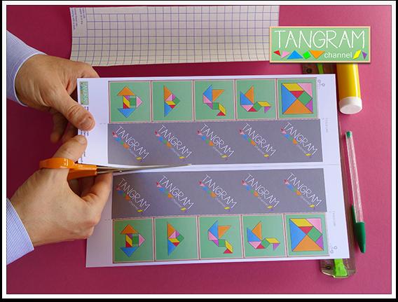 DIY - Tangram Memory Game - Tutorial Picture #2 - www.tangram-channel.com