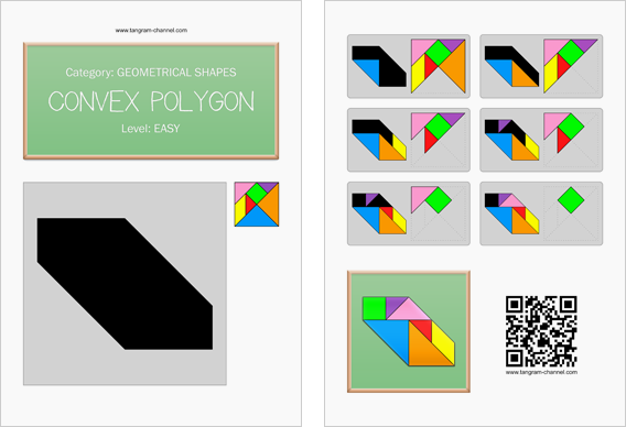 Tangram worksheet 70 : Convex polygon - This worksheet is available for free download at http://www.tangram-channel.com