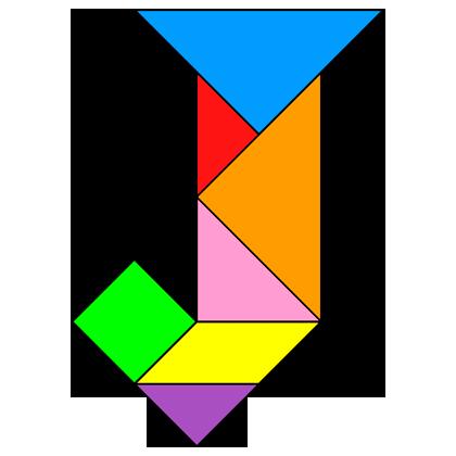 Tangram Letter J