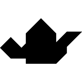 Tangram puzzle 28 : Teapot - Visit http://www.tangram-channel.com/ to see the solution to this Tangram