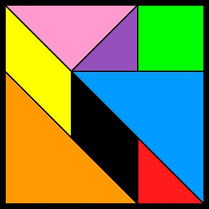 Tangram Incomplete square 13