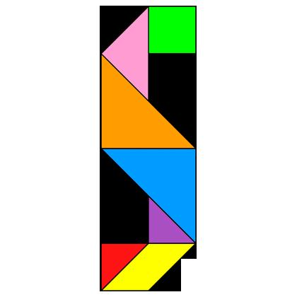 Tangram Letter S