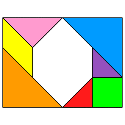 Tangram Incomplete rectangle