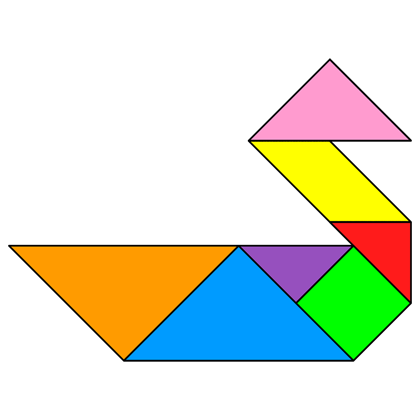 Tangram Duck - Tangram solution #73 - Providing teachers and pupils ...