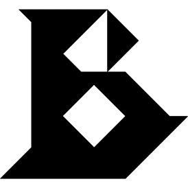 Tangram puzzle 96 : Letter B - Visit http://www.tangram-channel.com/ to see the solution to this Tangram