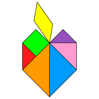 Tangram Apple