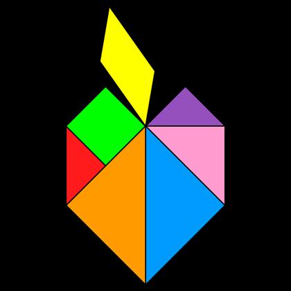 Tangram Apple - Tangram solution #167 - Providing teachers and pupils ...