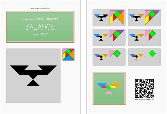 Tangram worksheet 247 : Balance - This worksheet is available for free download at http://www.tangram-channel.com