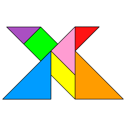 Tangram Letter X