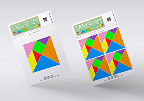 Use the templates to cut out your Tangram puzzles.