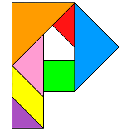 Tangram Letter P - Tangram solution #131 - Providing teachers and ...