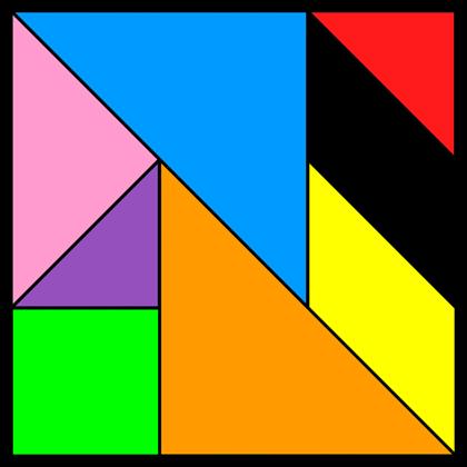 Tangram Incomplete square 12