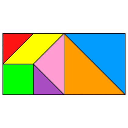 Tangram Rectangle - Tangram solution #25 - Providing teachers and