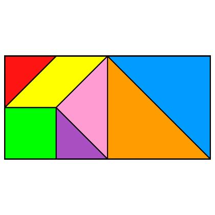 Tangram Rectangle - Tangram solution #25 - Providing teachers and ...