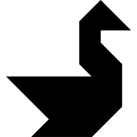 Tangram puzzle 16 : Swan - Visit http://www.tangram-channel.com/ to see the solution to this Tangram