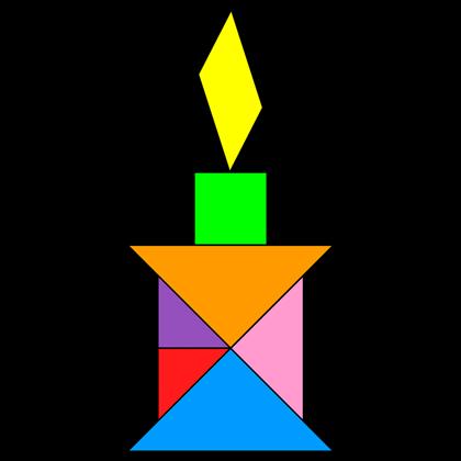 Tangram Candle 2