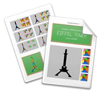 tangram eiffel tower tangram solution 160 providing teachers and pupils with tangram activities. Black Bedroom Furniture Sets. Home Design Ideas
