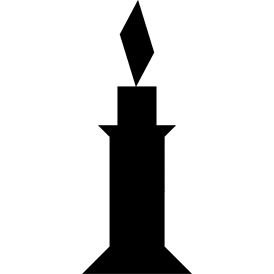 Tangram puzzle 21 : Candle - Visit http://www.tangram-channel.com/ to see the solution to this Tangram