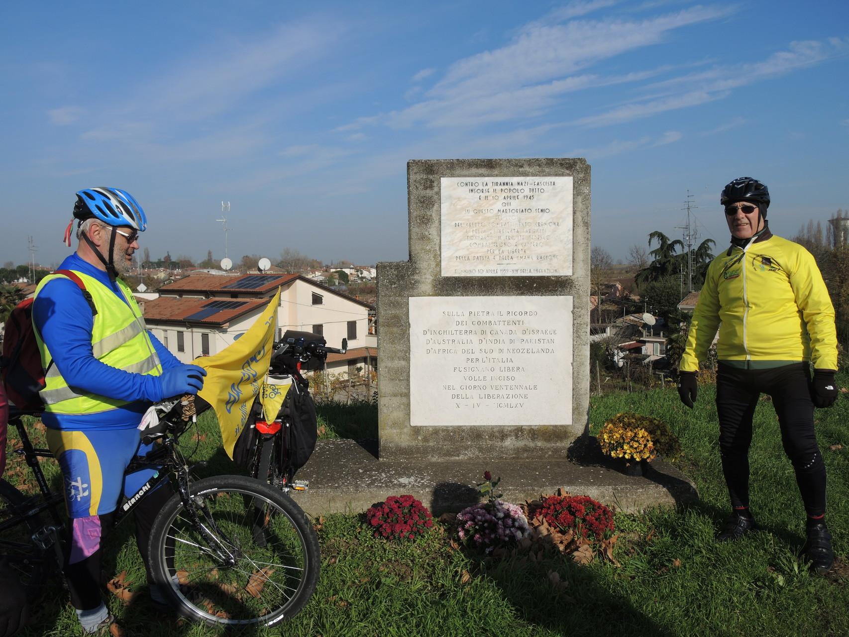 Fusignano, monumento a ricordo dello sfondamento del fronte da parte degli alleati