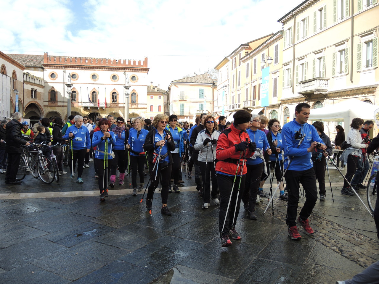 partenza nordic walking