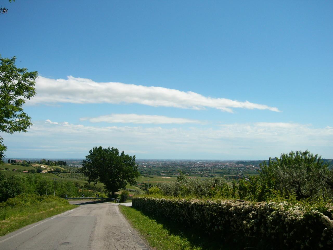 Le colline di Bertinoro verso Cesena