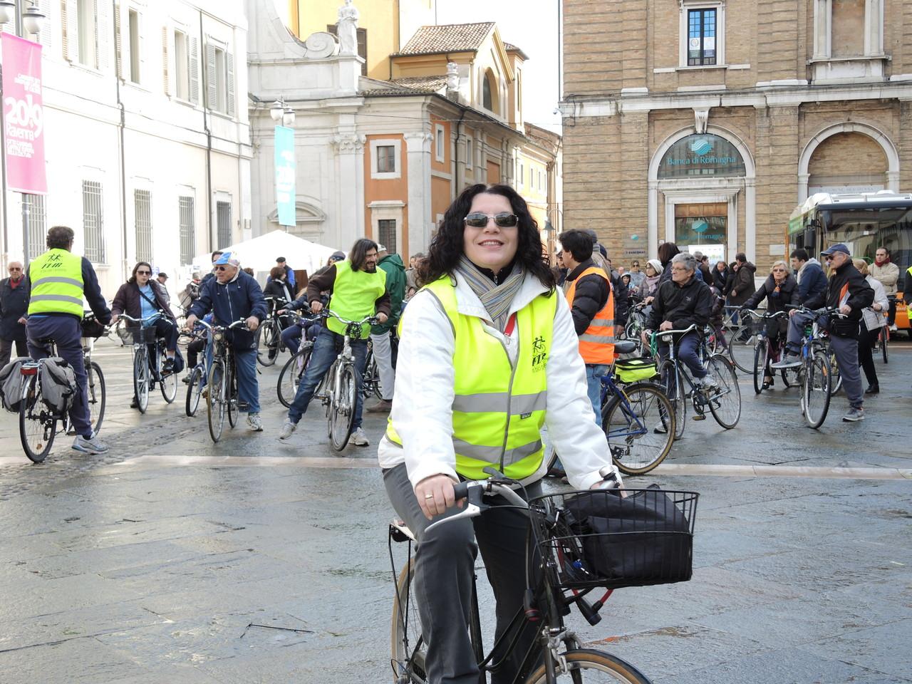 partenza ciclisti