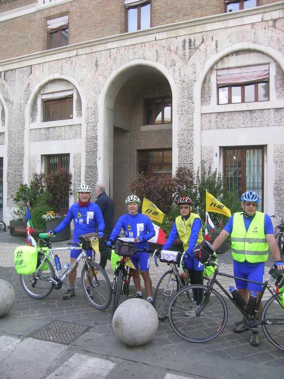 Foto di gruppo alla Partenza