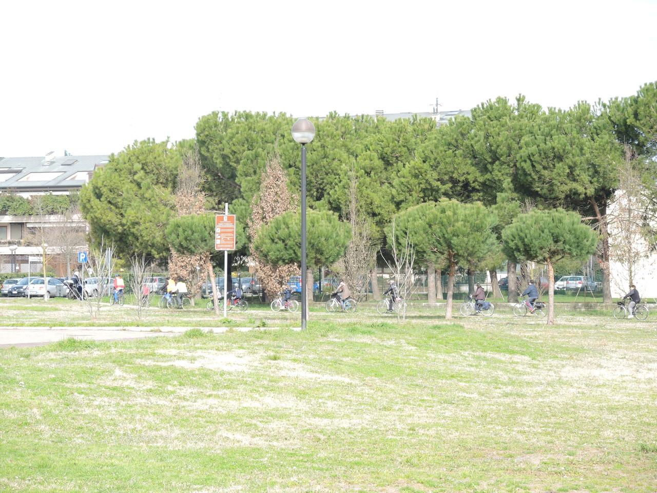 in bici nei parchi