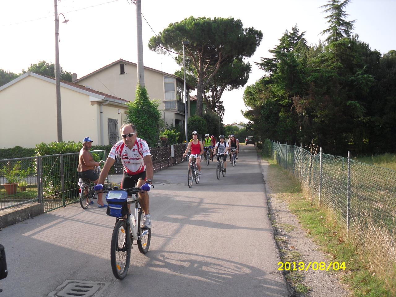 partenza dall'Osteria del Ciclista di Classe Fuori (RA)
