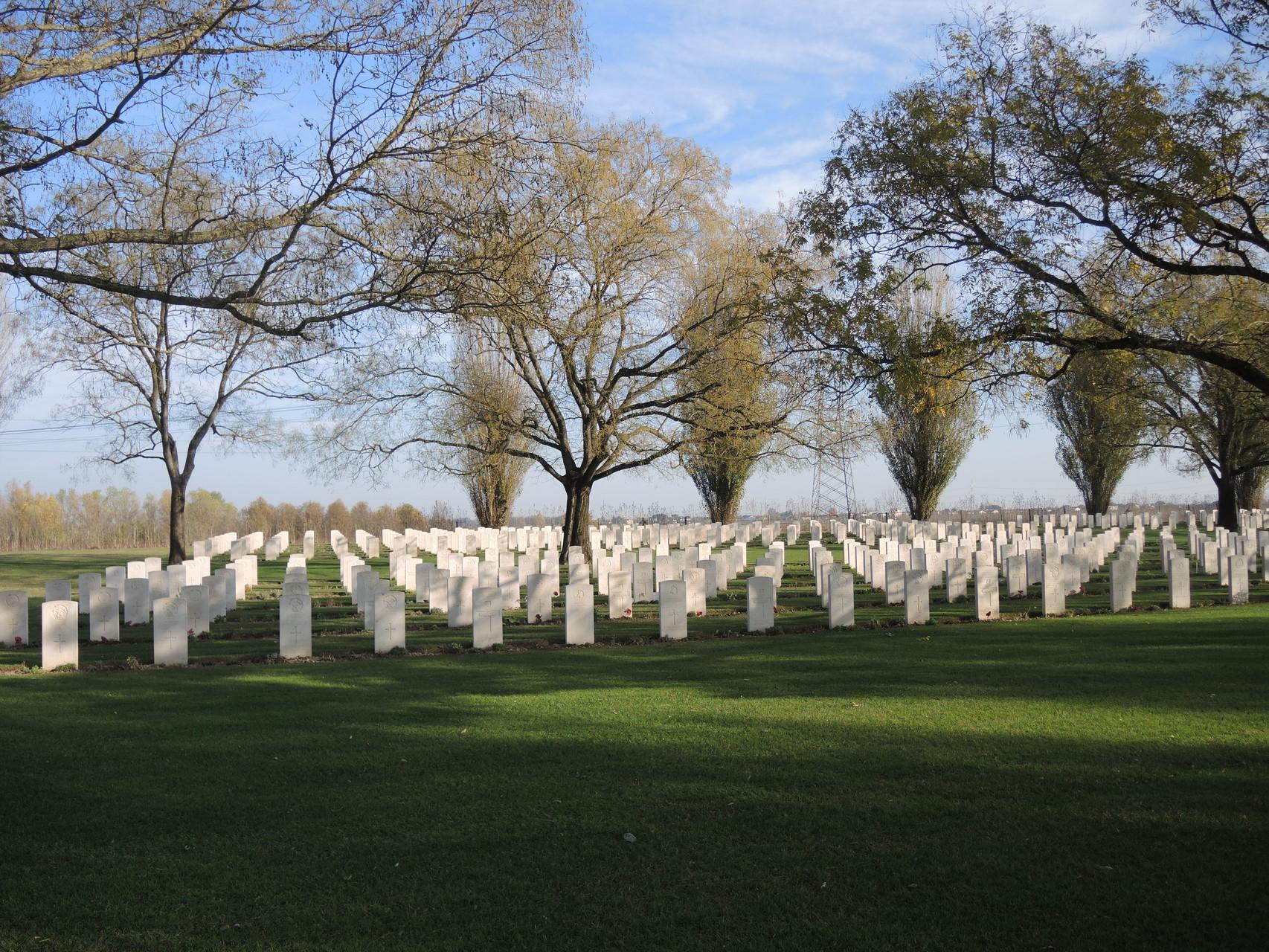 Piangipane, Cimitero del Commonwealth e della Brigata Ebraica;