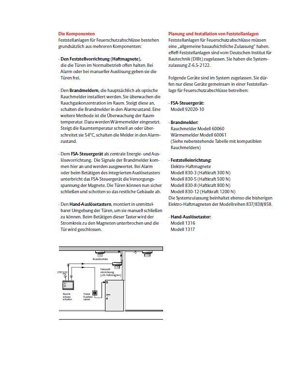 Feststellanlagen für Brandschutztüren