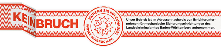 Landeskriminalamt Errichterunternehmen Kaiserstühler Sicherheitstechnik, mechanischer Errichter, Errichterliste BW