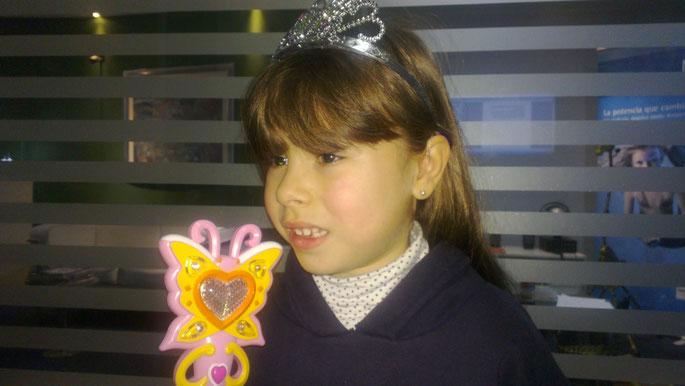 Valentina Pombo, usuaria de audífonos Phonak