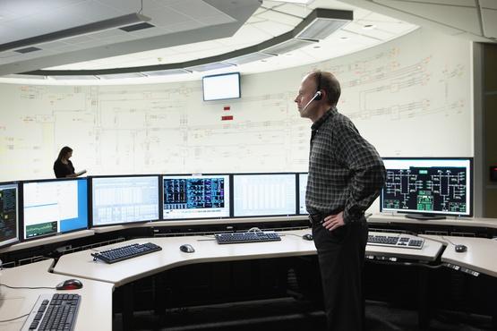 Centre de contrôle du réseau d'Hydro-Québec TransÉnergie