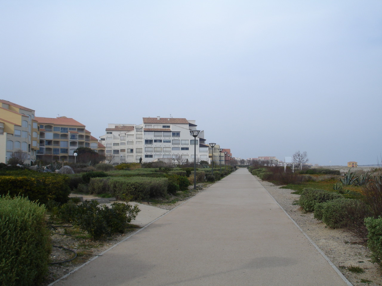 bords de mer plage de Port Leucate en fevrier