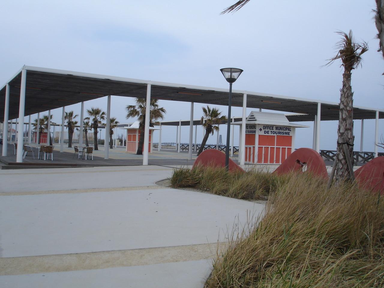 bords de mer plage de Port Leucate en fevrier