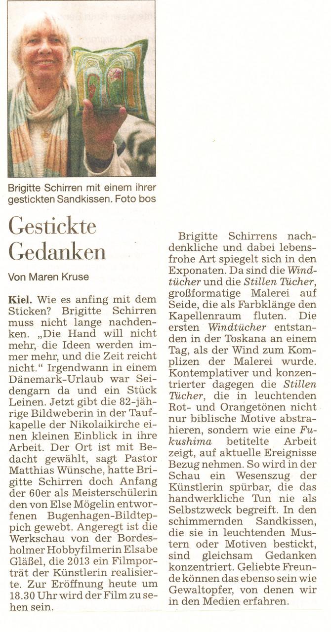 Kieler Nachrichten 2014