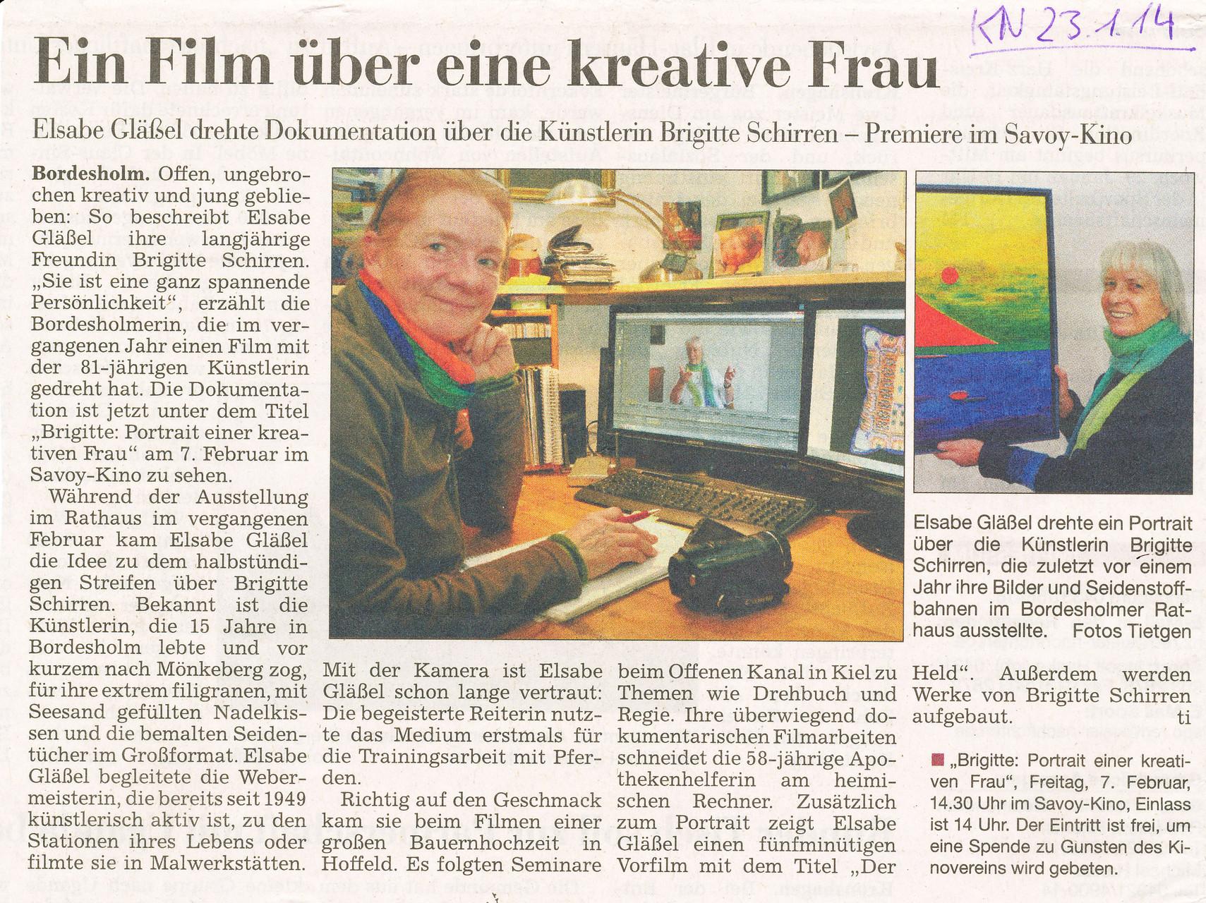 Kieler Nachrichten 23.1.2014