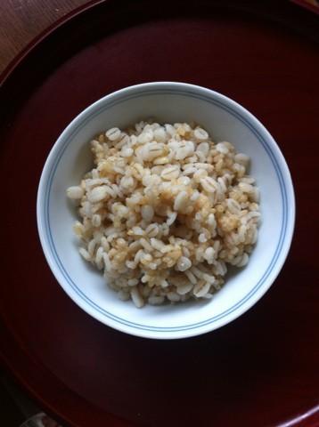 押し麦と玄米のご飯