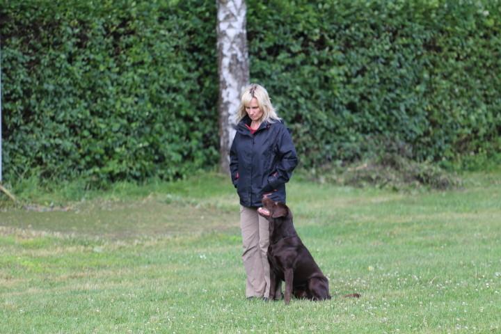 Katrin mit Balou