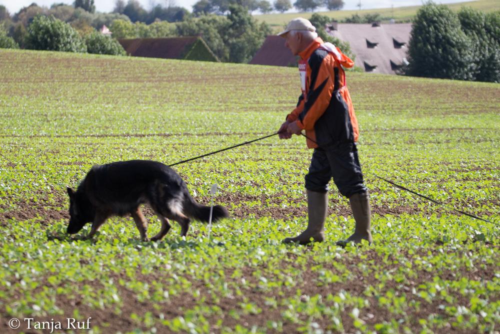 Wolfgang mit Dakota an der Landes-FH in Blansingen