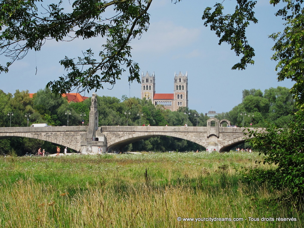 L'isar, le fleuve de Munich