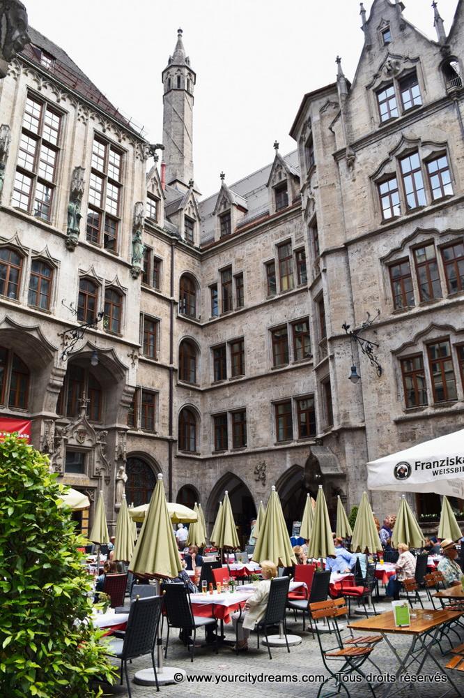 La coure intérieure du Neues Rathaus