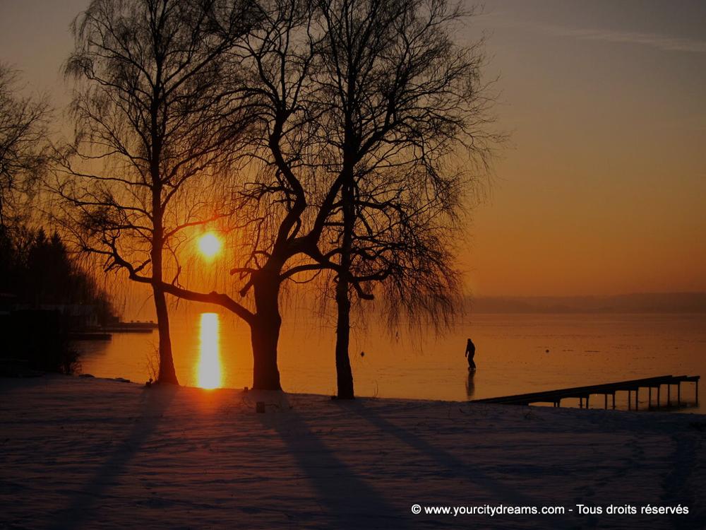 Couché de soleil en hiver