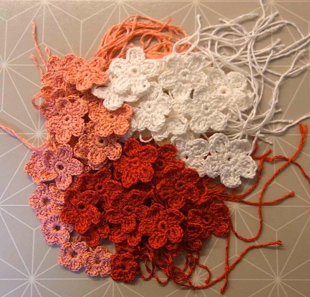 Häkelblumenmeer Baumwolle