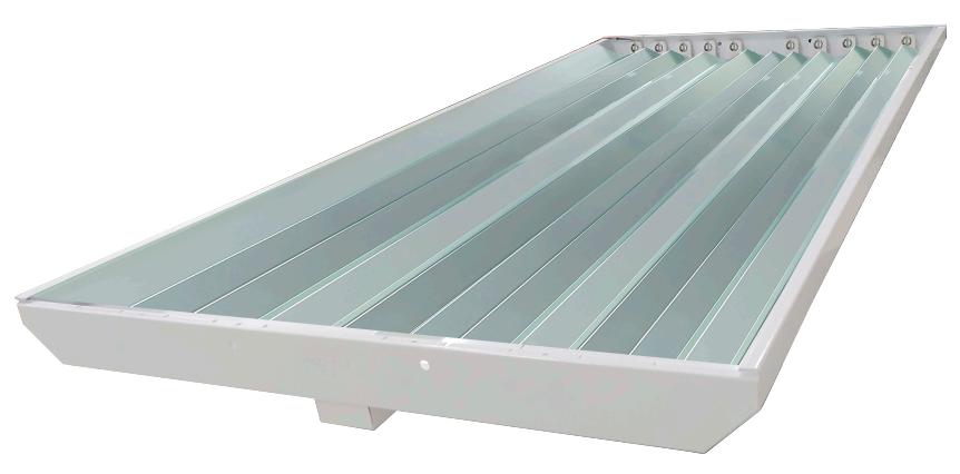 Gabinete Industrial Para 10 Tubos LED Especular